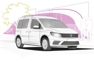 Injection molded parts from Knauf Industries for the new Volkswagen Caddy 5