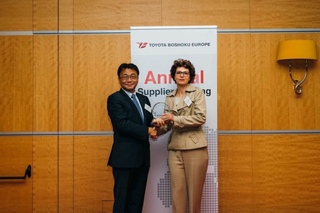 Knauf Industries among the best suppliers of Toyota Boshoku Europe